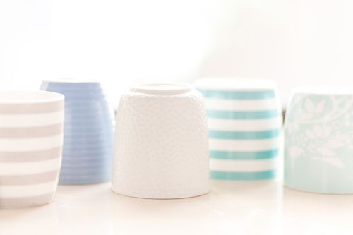 Beach house style coffee cups