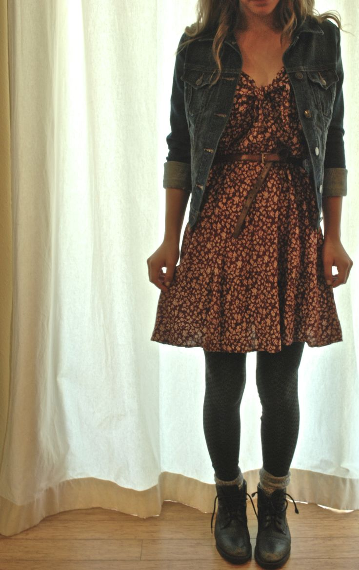 Layered summer dress for fall