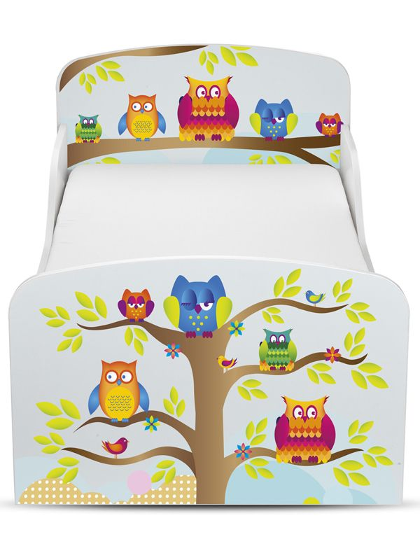 PriceRightHome Owls Toddler Bed - Three mattress options available