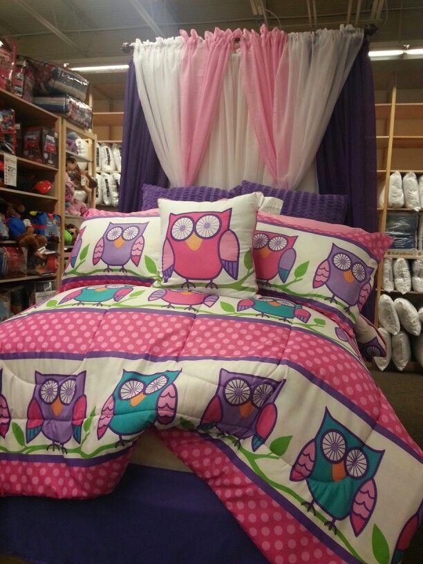 Owl bed set anna 39 s linens girls bedding sets pinterest bed sets beds and owl for Anna s linens bathroom accessories