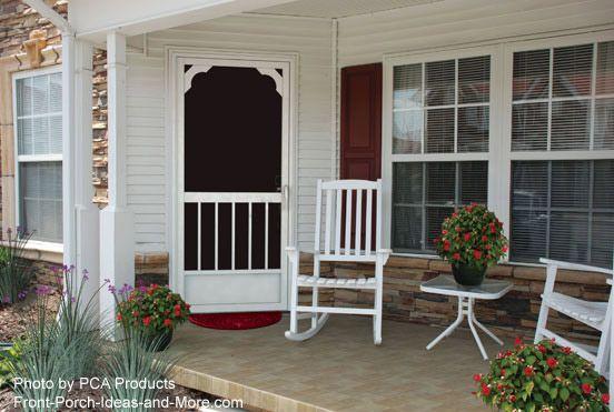 Pretty door on this rocking chair porch. #porch