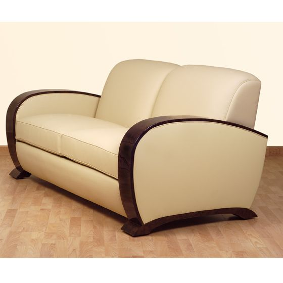 78 best images about art d co furniture on pinterest tub chair bauhaus a - Canape art deco cuir ...