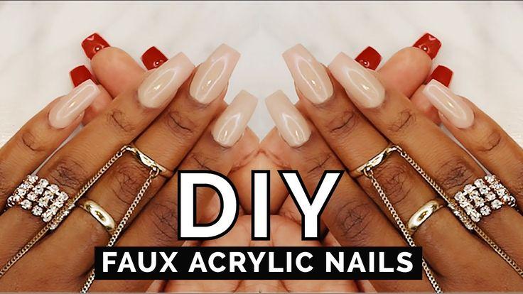 DIY EASY FAKE NAILS AT HOME! (NO ACRYLIC) Fake nails diy