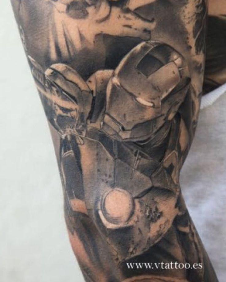 Superhero Iron Man Tattoo | Venice Tattoo Art Designs