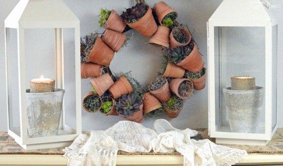 Make a Flower Pot Wreath