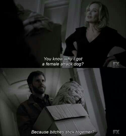 American Horror Story; Coven:) LOL..Love this quote.. | American