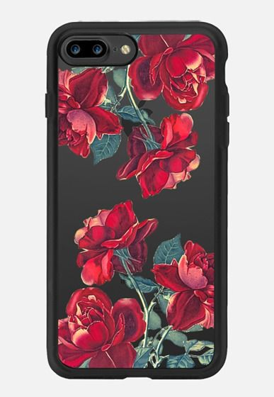 Red Roses (Transparent) iPhone 7 Plus Case by Heart of Hearts Designs | Casetify