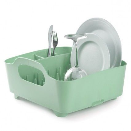 Umbra Tub Dish Rack - Mint - Modern Dish and Cutlery Drainer