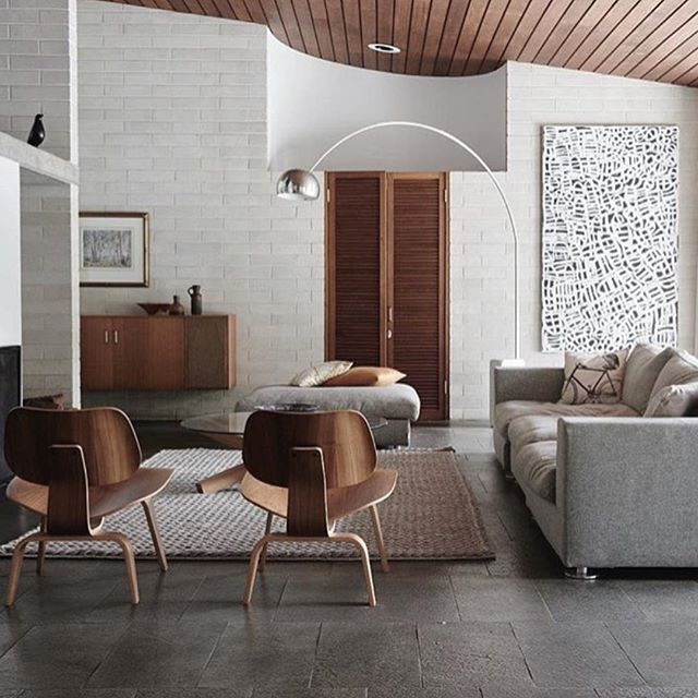 Eames DCMs doing their thing in Harry Seidler's Gissing House. by @brookeholm styling by @wearetriibe