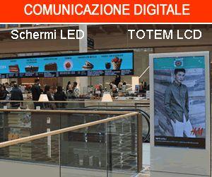impianti digitali per la comunicazione dei centri commerciali