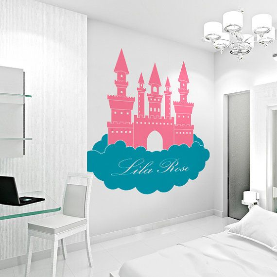 1000 ideas about name wall art on pinterest fabric for Castle wall mural sticker