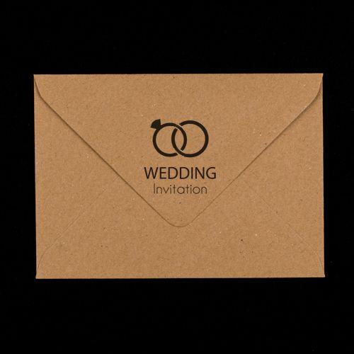 Kraft Wedding Invitations Printed Envelope C6 Sized Make Yours Unique Envelopes