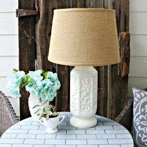How to paint a lamp. The quickest and easy makeover for any home decor item is spray paint. See how to transform a glass lamp base.