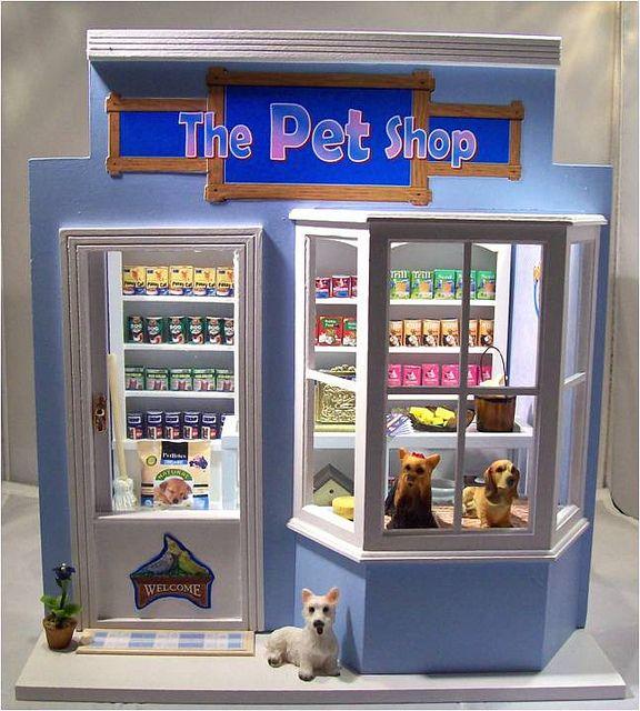 Pet Shop by Mum and Me Miniatures, via Flickr