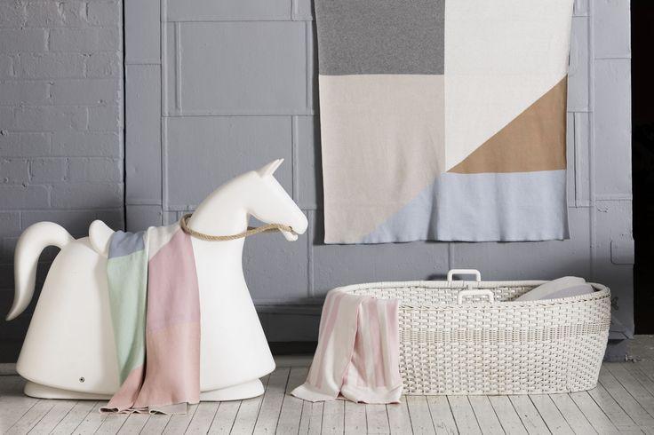 The Oscar Baby Blanket Celestial Blue/Morning Mist/English Rose/Zephyr/Snow White Find it here: http://kateandkate.com.au/shop/baby-blankets/oscar-baby-blanket-celestialblue-morningmist-englishrose-zephyr-snowwhite/