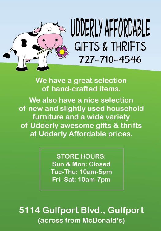Thanks to our advertisers, including Udderly Affordable Gifts & Thrifts!  LocalShops1.com's Live Local! magazine will be unveiled at 7:05 pm Thu, June 12.  Admission is free, but registration is requested: http://www.localshops1.com/events/event_details.asp?id=421180&group