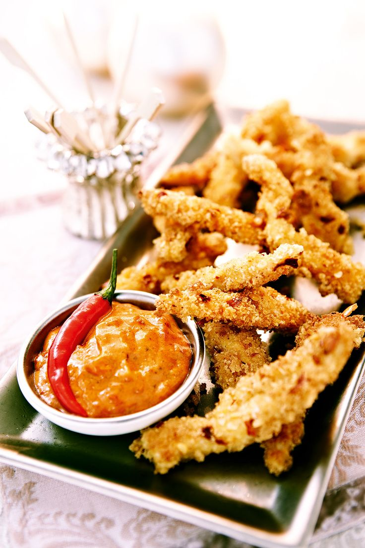Chicken Goujons with Chilli Dip recipe