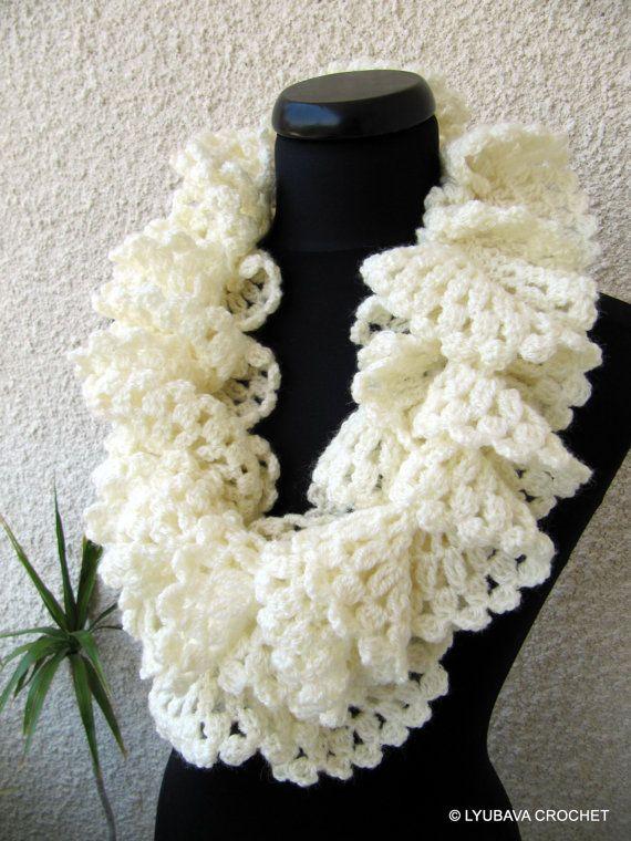 Crochet Ruffle Scarf Pattern Marvellous Ruffle by LyubavaCrochet, $5.00