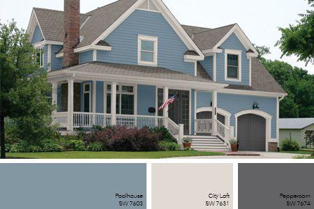 Beau ... Exterior House Colors Blue