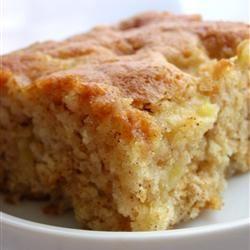 Apple Brownies Allrecipes.com....i think vanilla ice cream and caramel sauce on top...Mmmmm