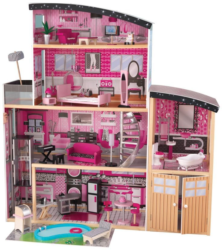 KidKraft Sparkle Mansion is fabulous large wooden doll houses! This Kidkraft dollhouse mansion would make a fabulous Birthday gift for girls