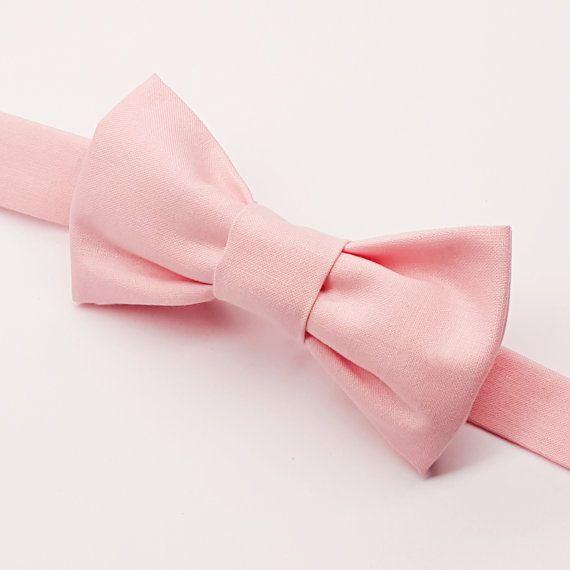 Boys Light Pink Bow tie, Kids Light Pink Bow by FlyTiesforFlyGuys