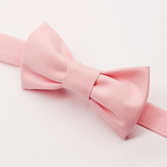 Boys Light Pink Bow tie, Kids Light Pink Bow by FlyTiesforFlyGuys