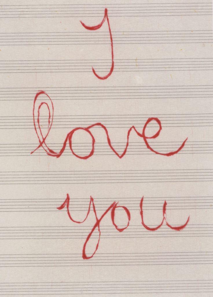 I Love You. Louise Bourgeois. #art