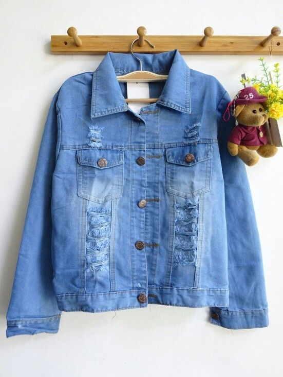Real pic denim jacket  150idr