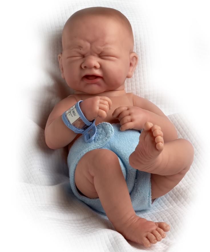 La Newborn Closed Eyes Real Boy 18502 By Berenguer Doll