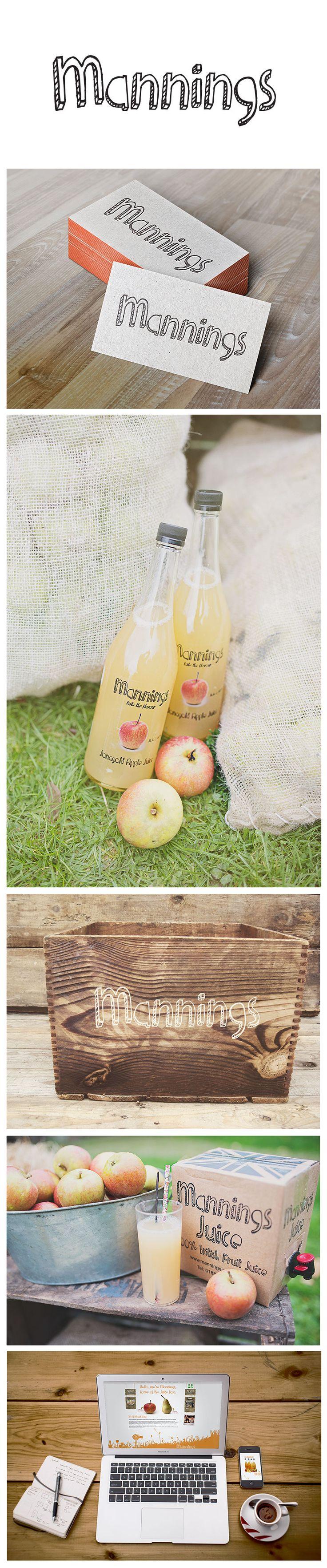 Orphans Press #Branding work for Mannings Juice from #Herefordshire www.manningsjuice.co.uk   #Print #Webdesign