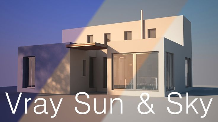 vray lighting tutorial - vray sun and sky for beginners