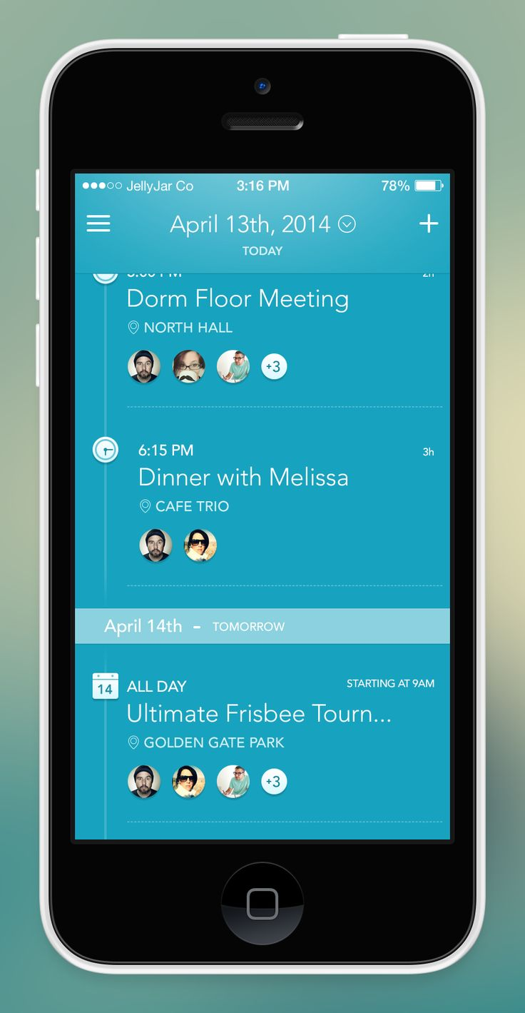 iPhone App - Agenda Screen