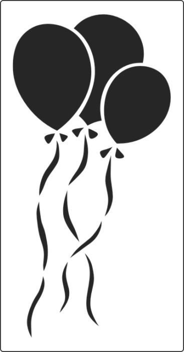 Balloon Stencil Available In Two Sizes Online Stencils