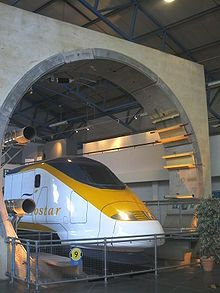 The Channel Tunnel (also referred to as the Chunnel) is a 31.4 mi undersea rail tunnel (linking Folkestone, Kent, in the United Kingdom with Coquelles, Pas-de-Calais, near Calais in northern France) beneath the English Channel at the Strait of Dover.