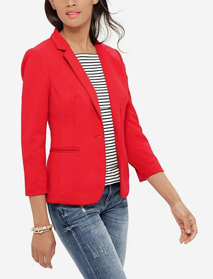 I don't know where reds are for fall (have no idea about these things) but would love a pop-of-color blazer