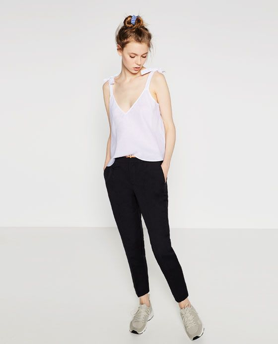 Image 1 of LINEN TROUSERS from Zara