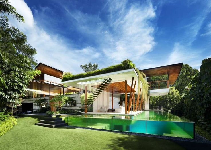 Improving On Paradise: Guz Architects Brings a Little Frank Lloyd Wright to the Tropics of Singapore - Architizer