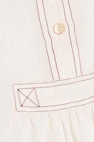 Étoile Isabel Marant - Daloa Stitched Linen Blouse - Ecru - FR40