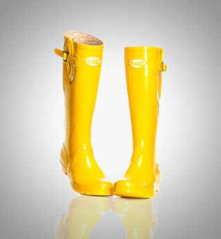 Catwalk Yellow - - Yellow trending on  London Fashion week. www.rockfishwellies.com