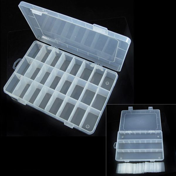 3 tamaño 10 / 15 / 24 compartimiento Slot Organizador de almacenamiento de cuentas de caja de joyería de plástico ajustable Organizador caja en Cajas y Papeleras de Almacenamiento de Casa y Jardín en AliExpress.com | Alibaba Group