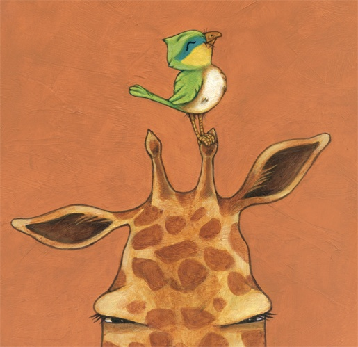 Giraffe and Bird ALWAYS get on each other's nerves. The funny thing is, you rarely see them apart.