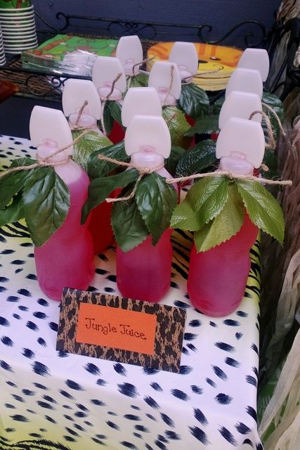 Jungle juice at a Lion King party!   See more party ideas at CatchMyParty.com!  #partyideas #jungle
