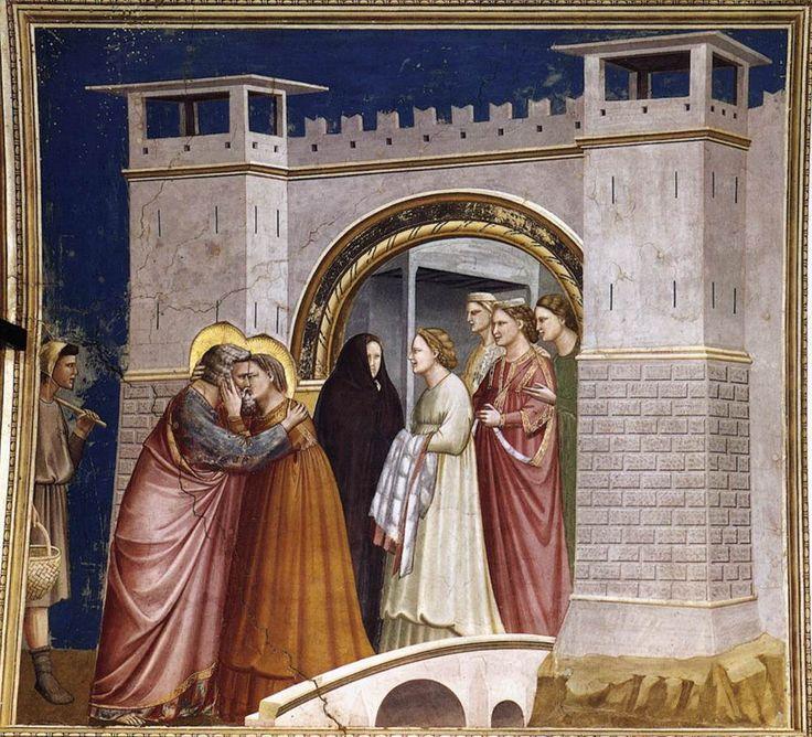 Cappella degli Scrovegni, Il saluto di Gioacchino e Sant'Anna #savegiotto