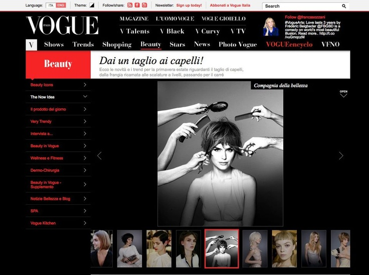 """Choose """"Compagnia della Bellezza"""" for cutting your hair! Read the article on Vogue.it."""