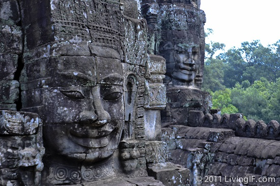 The giant faces in the Bayon Temple - Angkor Wat, Cambodia