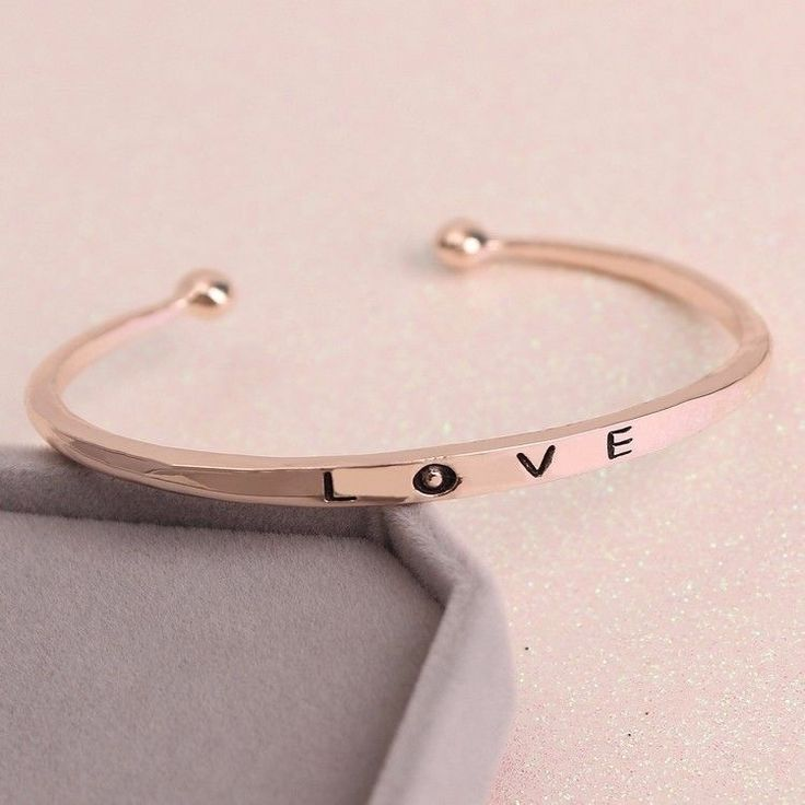 Fashion Women Rose Gold Plated LOVE Bracelet Jewelry Luxury and Casual  #Unbranded #Punk