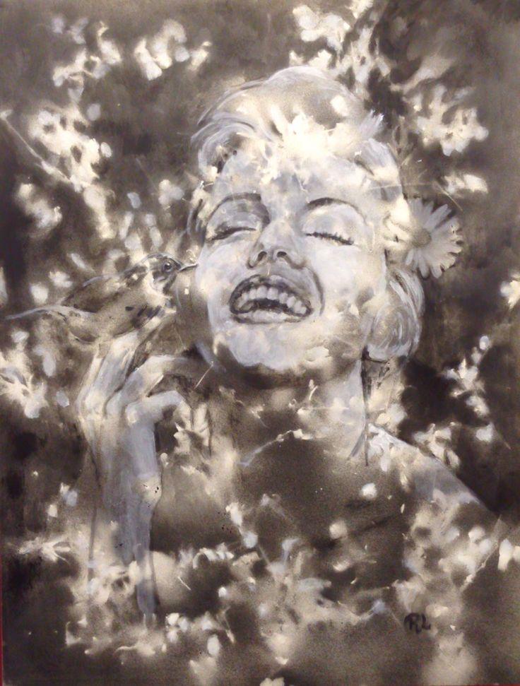 #marilyn#43x56#alkyd,acrylic#paper#rithva.dk#