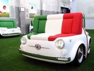 FIAT 500 as a sofa