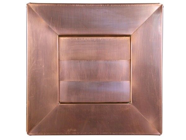 Low Profile Louvered Dryer / Exhaust Vent - Copper - Flush Mount - Front View